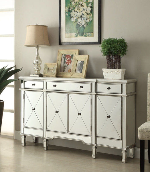 60-inch  Mirrore Relection Andrea Hall Console DH-695 (Silver) - Chans Furniture - 3