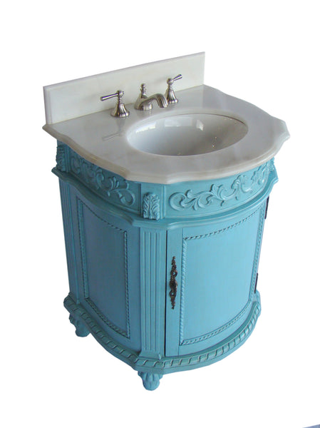 "26"" Powder Room Catalina Bathroom Sink Vanity CF-4409W - Chans Furniture - 2"
