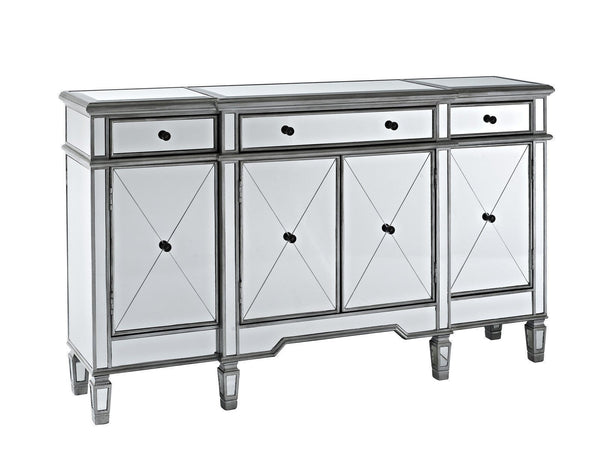 60-inch  Mirrore Relection Andrea Hall Console DH-695 (Silver) - Chans Furniture - 4