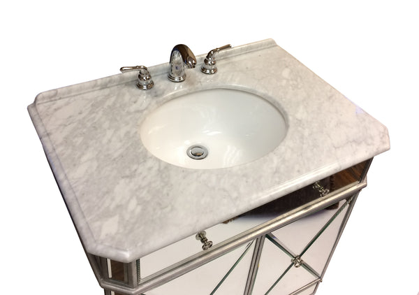 "30"" Adelisa Bathroom Sink Vanity with Mirror Set - Model BC-507GC-RA/1002GC"