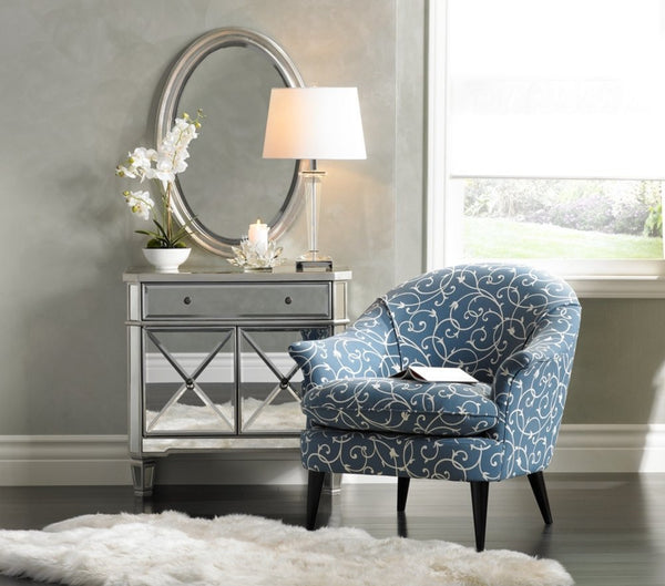 32-inch  Amelia Mirrored 1-Drawer, 2-Door Console DH-228 - Chans Furniture - 3