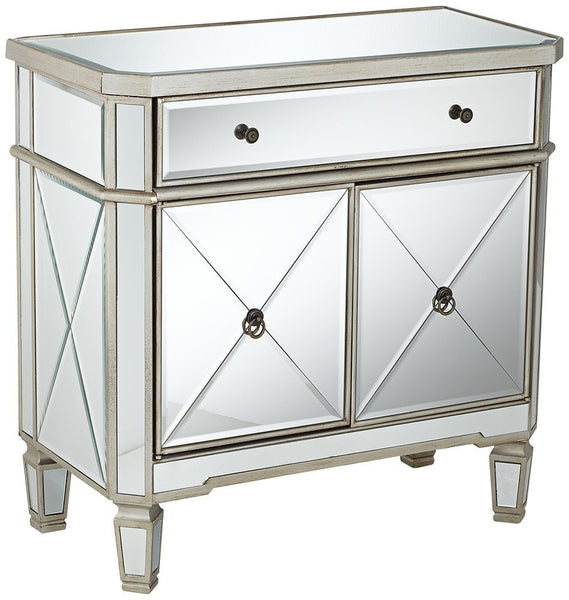 32-inch  Amelia Mirrored 1-Drawer, 2-Door Console DH-228 - Chans Furniture - 2