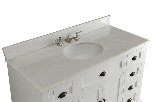 "49"" Cottage Style White Glennville Bathrrom Sink Vanity - model GD-28327W - Chans Furniture - 4"