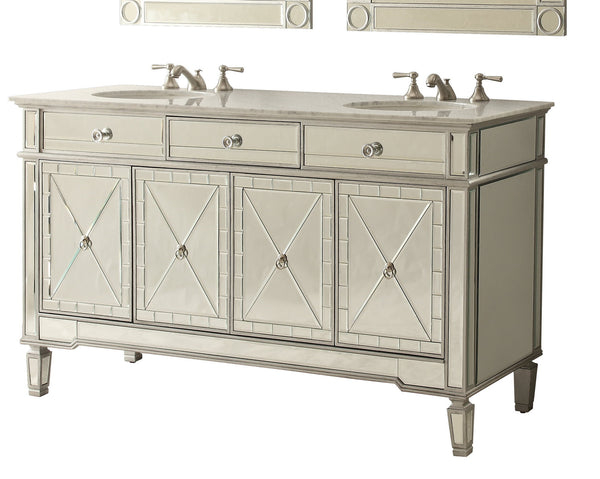 "60"" Ashlia Double Sink Vanity - Model # 7322Q60"