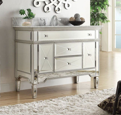 "44"" All Time Favorite Mirror Reflection Austin Bathroom Sink Vanity model # N-755W - Chans Furniture - 1"