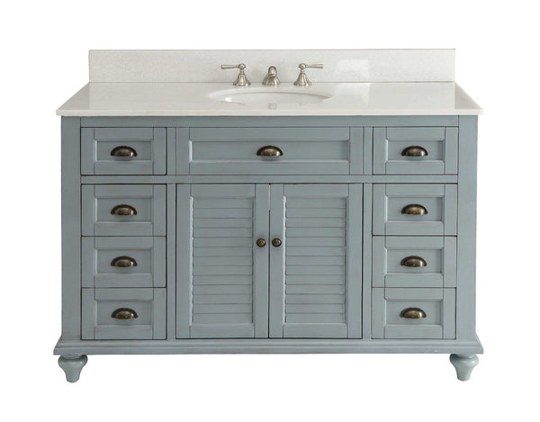 "49"" Vintage Blue Cottage Glennville Bathroom Sink Vanity - GD-28328BU-BS   (Blue) - Chans Furniture - 1"