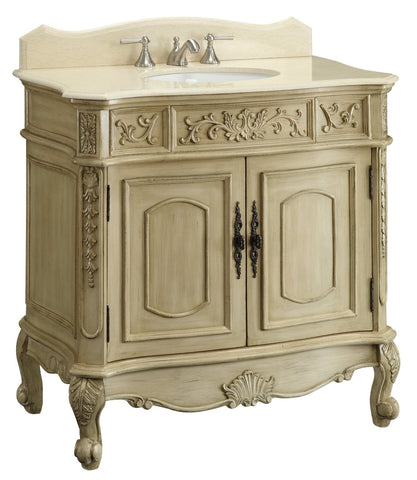 "36"" Classic Style Belleville Bathroom Sink Vanity   model # CF35579 - Chans Furniture"