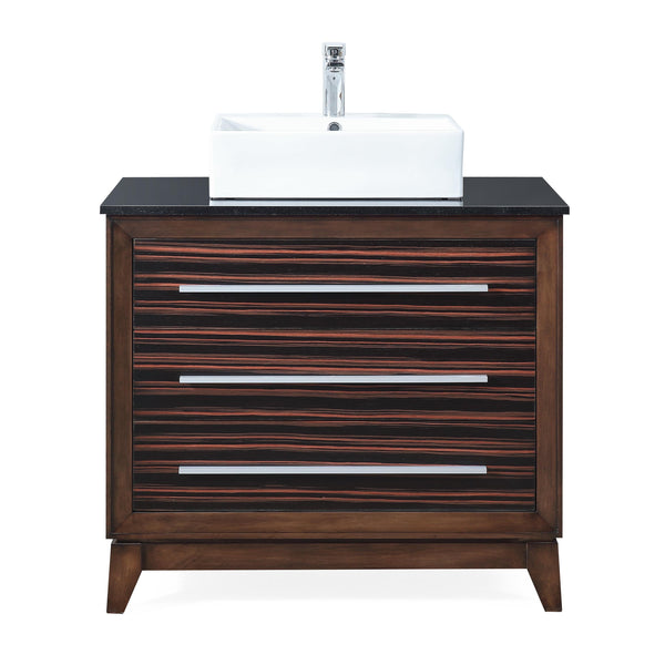 "34"" Tennant Brand Stoughton vessel Sink bathroom vanity - TB-9203-V36"
