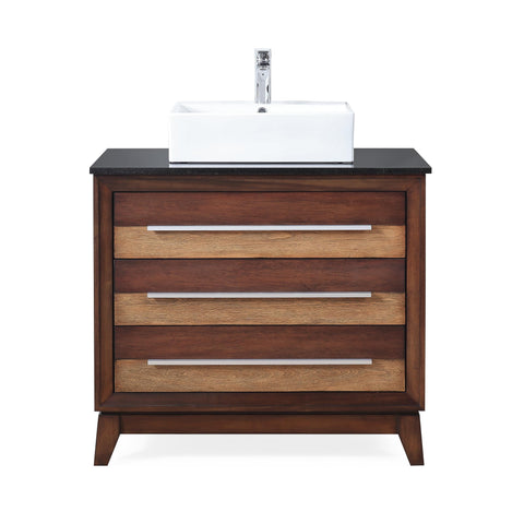 "34"" Tennant Brand Stoughton vessel Sink bathroom vanity - TB-9204-V36"