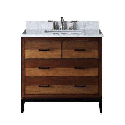 "37""  Tenant Brand Urban Modern Eclectic Besos Sink bathroom vanity with metal base  - TB-9550-V36"