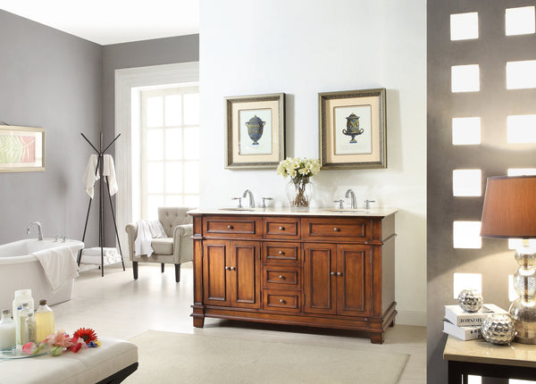 "60"" Timeless Classic Sanford Double Sink Bathroom Vanity  model # CF-3048M-60 - Chans Furniture - 2"