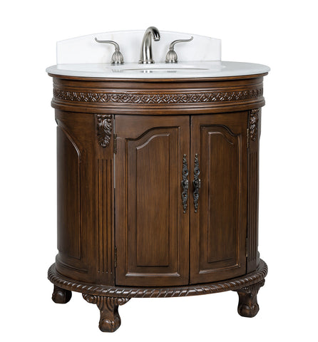 "32"" Benton Collection Versailles Small Colonial Bathroom Sink Vanity CF-2869W-TK"
