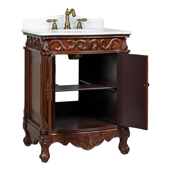 "27"" Petite Powder Romm Hayman Bathroom Sink Vanity model # BC-2917W-TK"