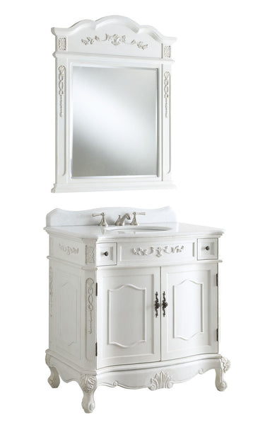 Fairmont 36-inch Vanity & Mirror BC-3905W-AW-36 - Chans Furniture - 4
