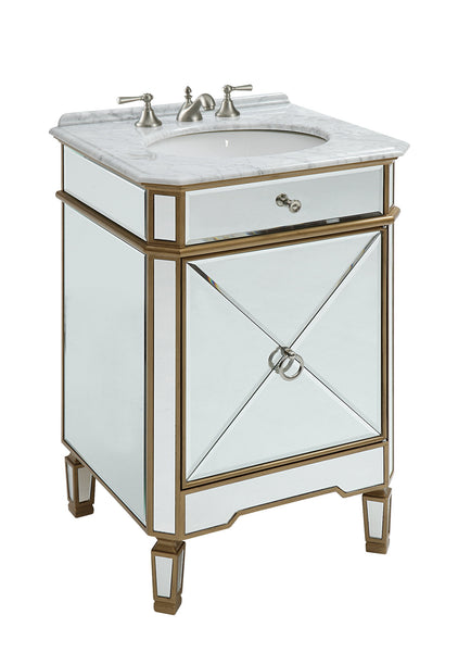 "24"" Benton Collection Mirror Reflection Asger Bathroom Sink Vanity - Model 5027GC"