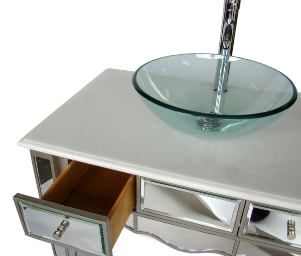 "30""   Mirror Reflection Vesel Sink Alston Bathroom Sink Vanity Model # BWV-015/30 - Chans Furniture - 2"