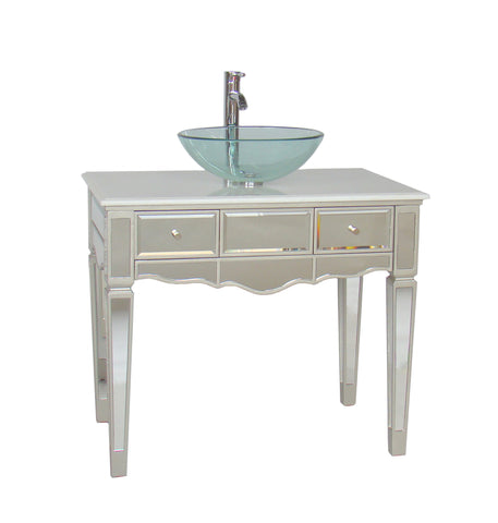 "36""   Mirror Reflection Vesel Sink Alston Bathroom Sink Vanity Model # BWV-015/36 - Chans Furniture - 1"