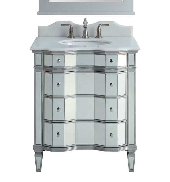 "30"" Mirror Reflection Asselin Bathroom Sink Vanity & Mirror Set  K2274-30/3036"