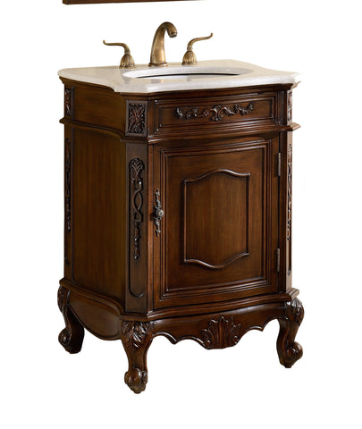 "24"" Classic Petite Powder Room Debellis Bathroom Sink Vanity & Mirror Srt Model # BWV-047W - Chans Furniture - 2"