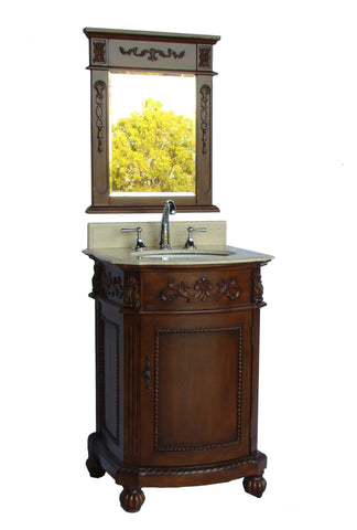 "24"" Camelot Bathroom Sink Vanity & Mirror Set -BWV-048M-MIR - Chans Furniture"