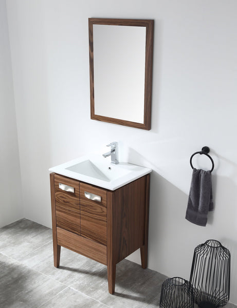"24"" Tennant Brand Colle American Walnut finish Bathroom Sink Vanity - CA-405NT24-ZI"