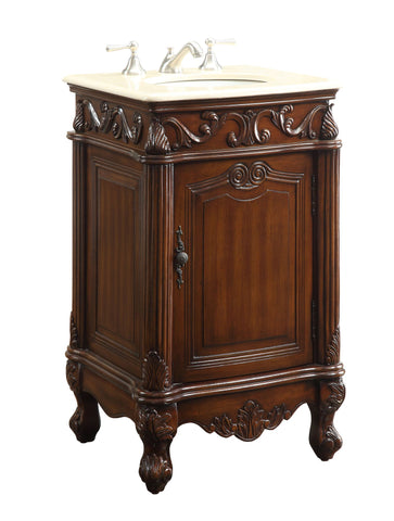 "21"" Petite Powder Room Stella Bathroom Sink Vanity -  CF2801M-TK - Chans Furniture - 1"