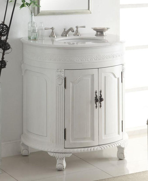 "32"" Attractive Classic Versailles Bathroom Sink Vanity  model #  CF-2869W-AW - Chans Furniture - 2"