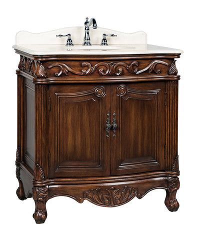 "32"" Traditional style cream marble Fiesta Bathroom Sink Vanity   CF-2873M-TK"