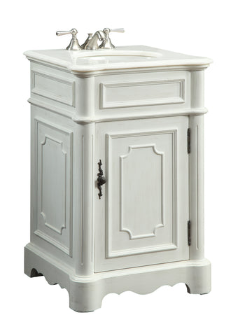 "21"" Antique white Teega Barhoom Sink Vanity CF-3006W-AW - Chans Furniture - 2"