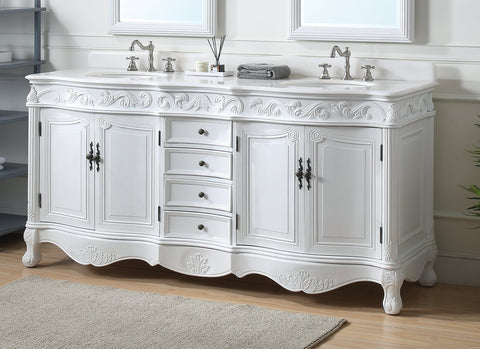 "72"" Beckham Double Sink Vanity - Benton Collection CF-3882W-AW-72"