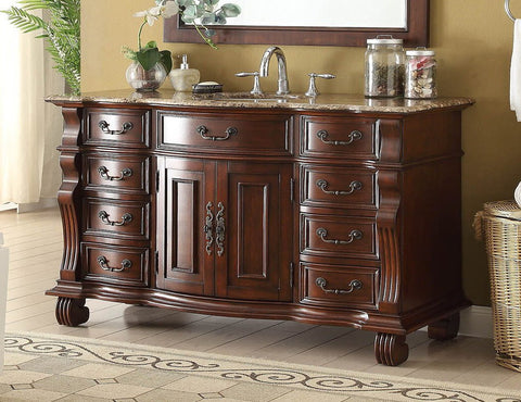 "60"" Hopkinton Bathroom Sink Vanity Cabinet - Benton Collection GD-4437B-60"