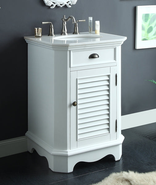 "24"" Abbeville Sink Vanity, White - Benton Collection Model CF-47523W"