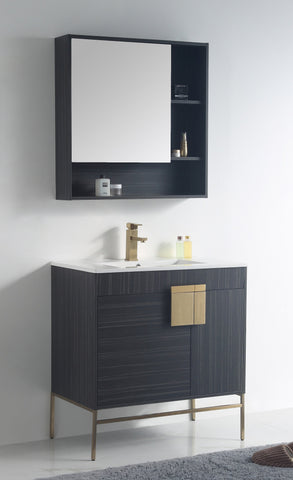 "32"" Tennant Brand Kuro Minimalistic Dawn Gray Bathroom Vanity - CL-102DG-32ZI"