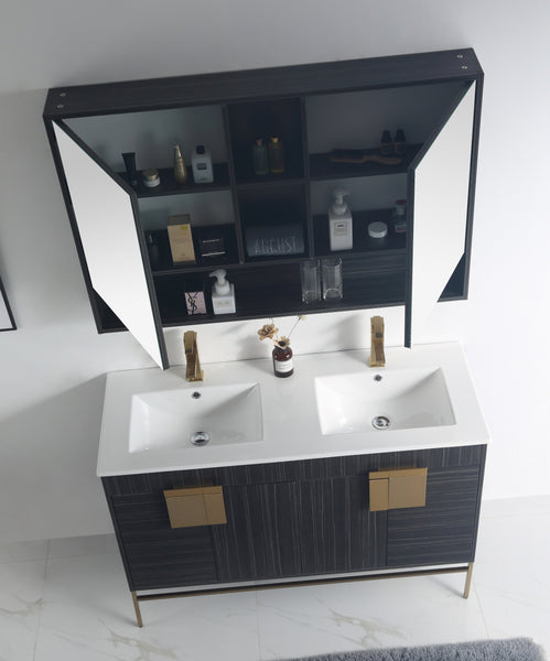 "47"" Tennant Brand Kuro Minimalistic Dawn Gray Double Bathroom Vanity - CL-102DG-47QD"