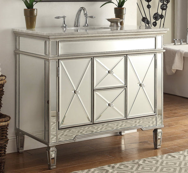 "40"" Mirrored Adelia Bathroom Sink Vanity DH-13Q332 - Chans Furniture - 1"