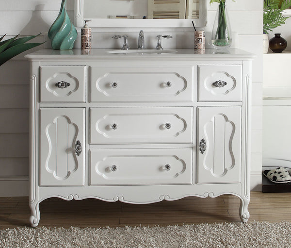 "48"" Victorian Cottage Style Knoxville Bathroom sink vanity Model GD-1522W-48BS - Chans Furniture - 2"