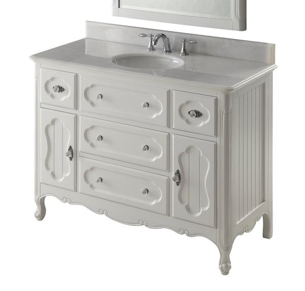 "48"" Victorian Cottage Style Knoxville Bathroom sink vanity Model GD-1522W-48BS - Chans Furniture - 4"