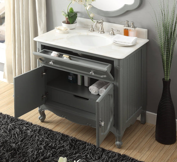 "34"" Knoxville Bathroom Sink Vanity - Benton Collection Model GD-1533CK"