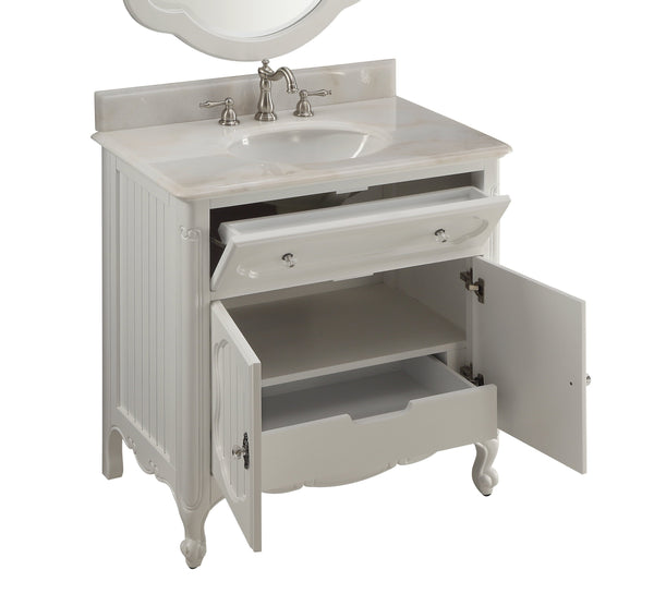 34 Knoxville Bathroom Sink Vanity Benton Collection Model Gd 1533wt Bentoncollections