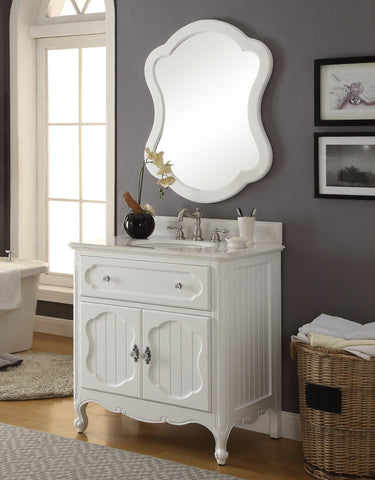 "34"" Knoxville Bathroom Sink Vanity - Benton Collection Model GD-1533WT-MIR"