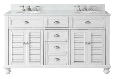 "60"" Cottage Look Double Sink Glennville Bathroom sink vanity Model GD-21333 - Chans Furniture - 1"