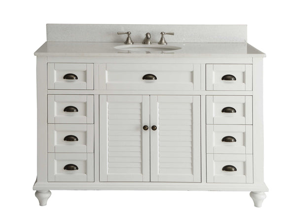 "49"" Cottage Style White Glennville Bathrrom Sink Vanity - model GD-28327W - Chans Furniture - 3"