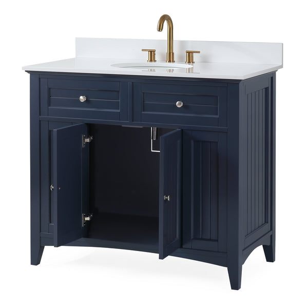 "42"" Thomasville Cottage Style Taupe Bathroom Sink Vanity - GD-47535NB"