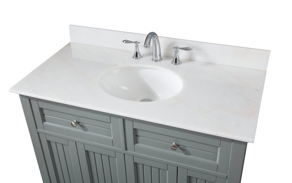 "42"" Benton Collection Thomasville Cottage Style Gray Bathroom Cabinet Sink Vanity GD-47539-CK42"