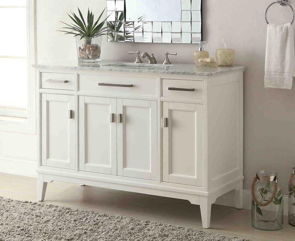 "49"" Italian Carrara Marble top Orson Bathroom Vanity  Model #GD-6606-49 - Chans Furniture - 3"