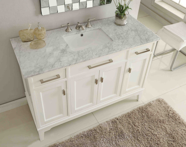 "49"" Italian Carrara Marble top Orson Bathroom Vanity  Model #GD-6606-49 - Chans Furniture - 2"