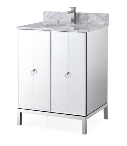 "26"" Octavia Modern Mirrored French Bathroom Vanity HF-008"