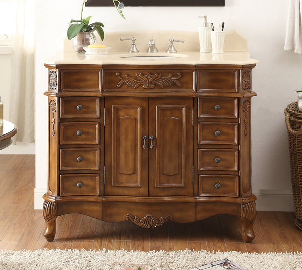 "42""  Classic style Morton Bathroom sink vanity # HF-2815M-TK-42 - Chans Furniture - 2"