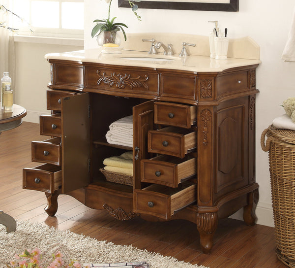 "42""  Classic style Morton Bathroom sink vanity # HF-2815M-TK-42 - Chans Furniture - 4"