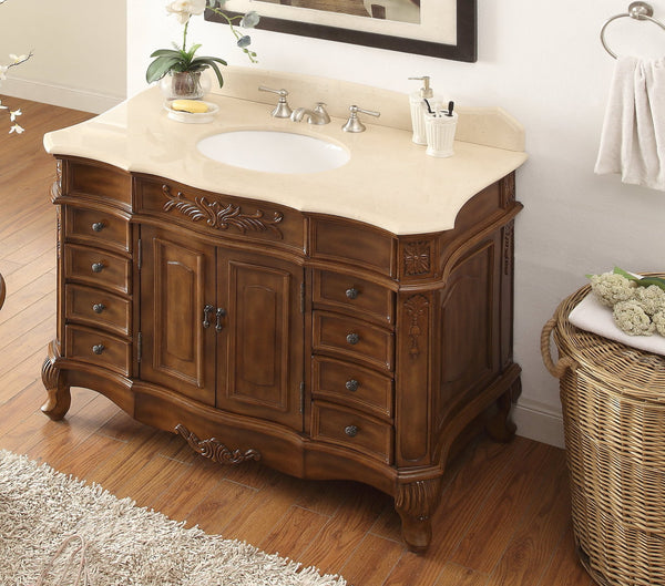 "42""  Classic style Morton Bathroom sink vanity # HF-2815M-TK-42 - Chans Furniture - 3"